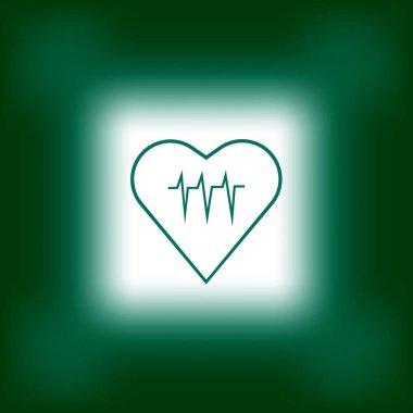 heart cardiogram flat icon, vector, illustration