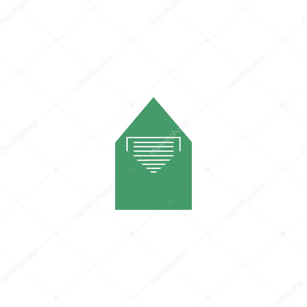 minimalistic vector icon of letter envelope