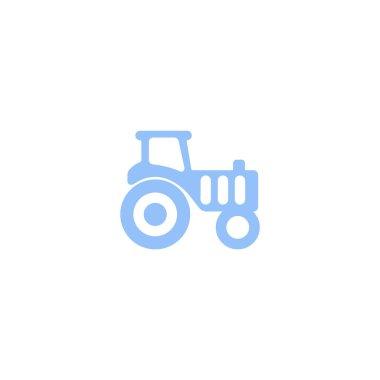 tractor flat icon, vector illustration
