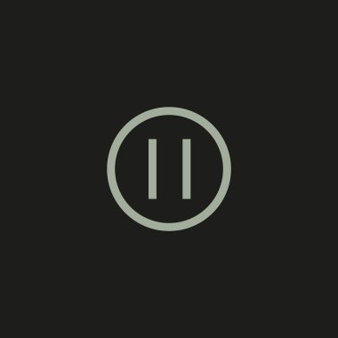 pause flat button, vector, illustration, logo template