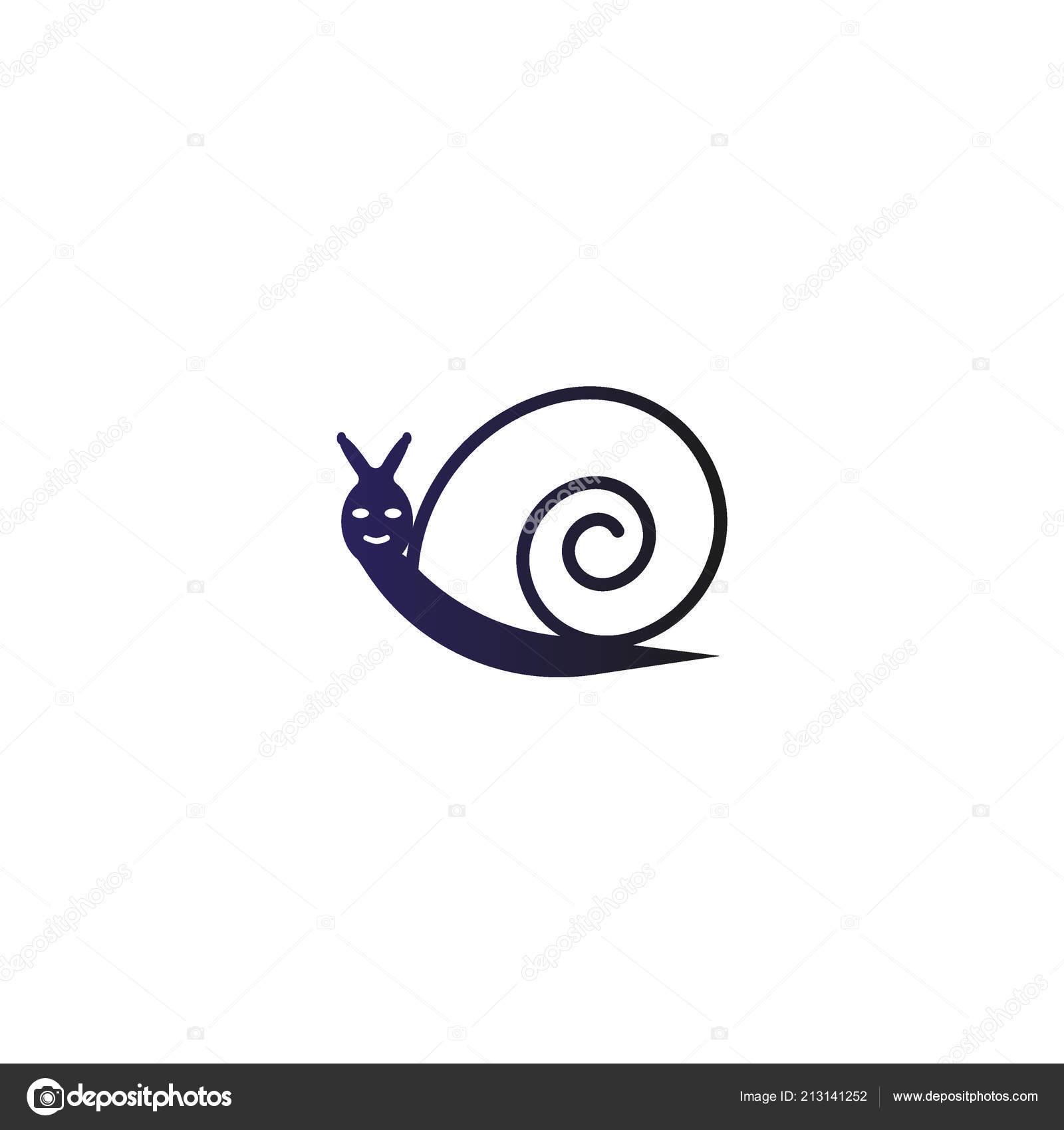 cute colorful snail logo template stock vector nettibuletti