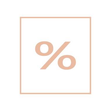 percent symbol, shopping concept