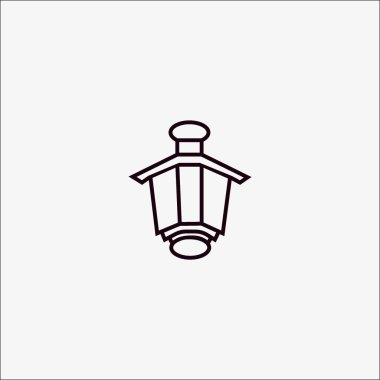lantern flat icon, vector, illustration