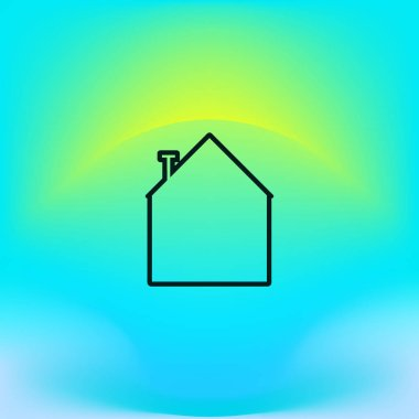 minimalistic icon of house, vector illustration