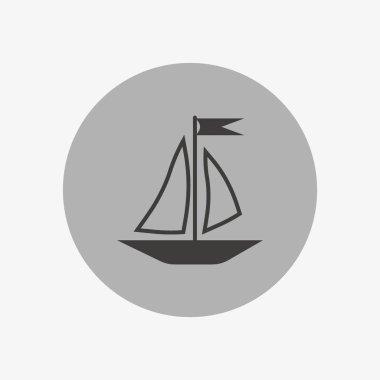 boat flat icon, vector illustration