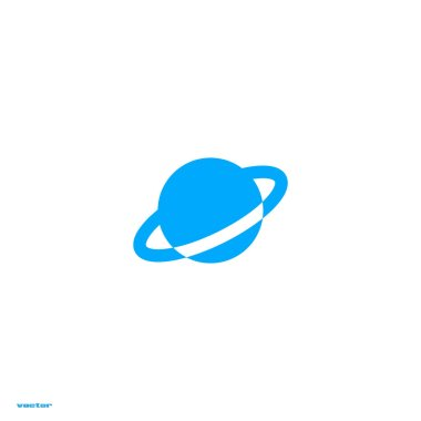 saturn planet flat icon, vector, illustration, astrology concept