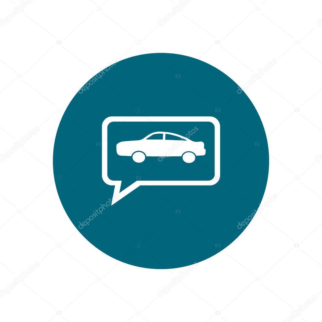 Colorful modern car vector illustration