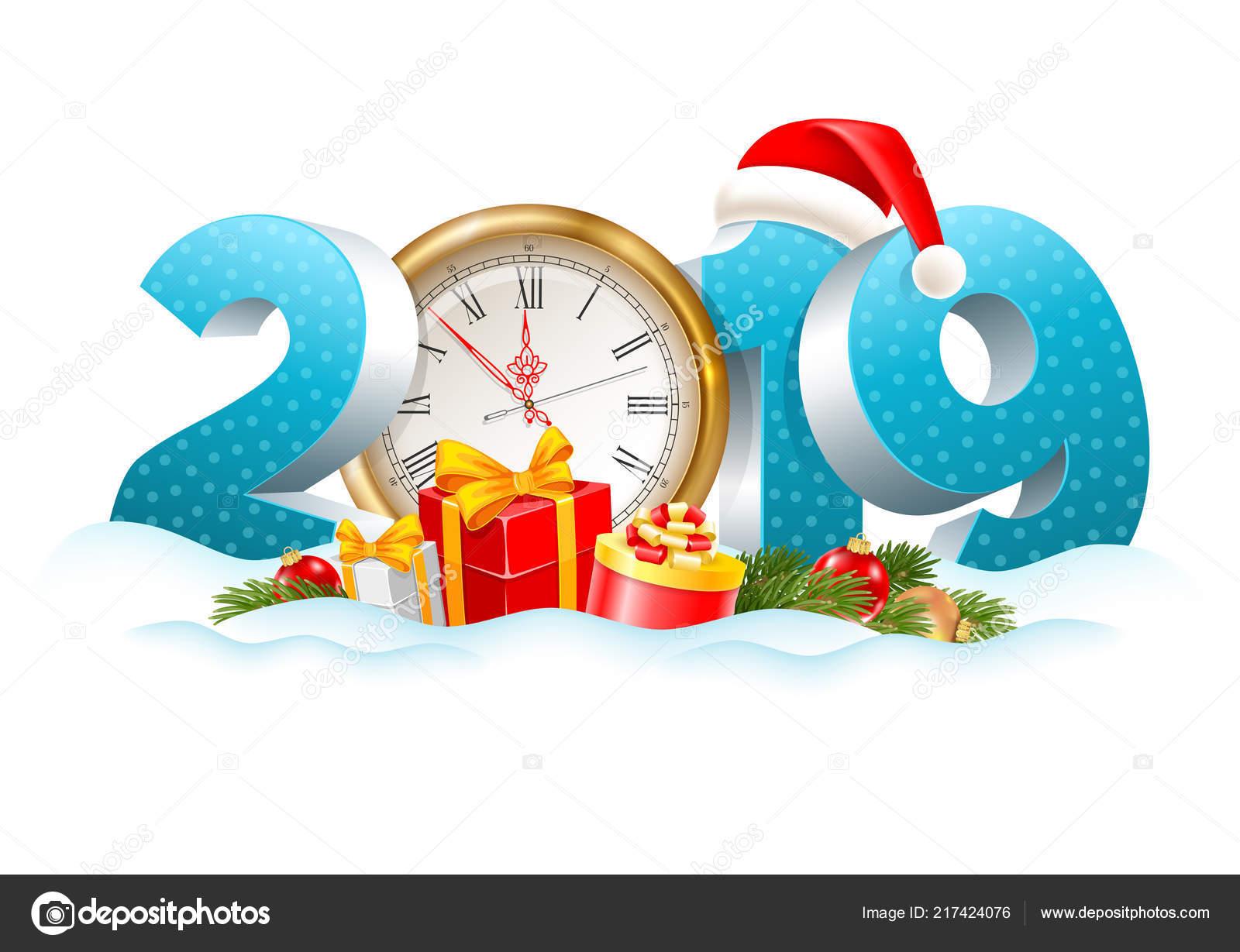 Weihnachten Urlaub 2019.Der Urlaub Ist Weihnachten Vor Der Tür Volumetrische Ziffern 2019