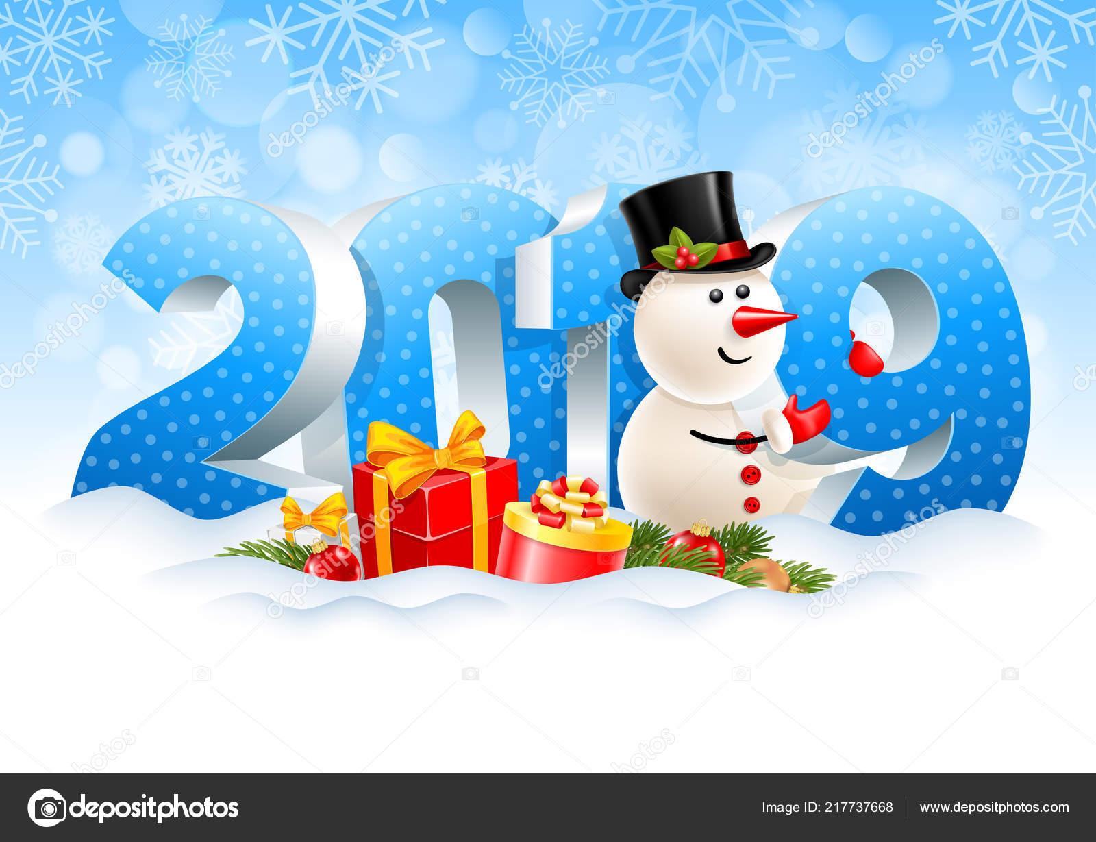 Weihnachten 2019 Schnee.Volumetrische Ziffern 2019 Und Schneemann Geschenke Filialen