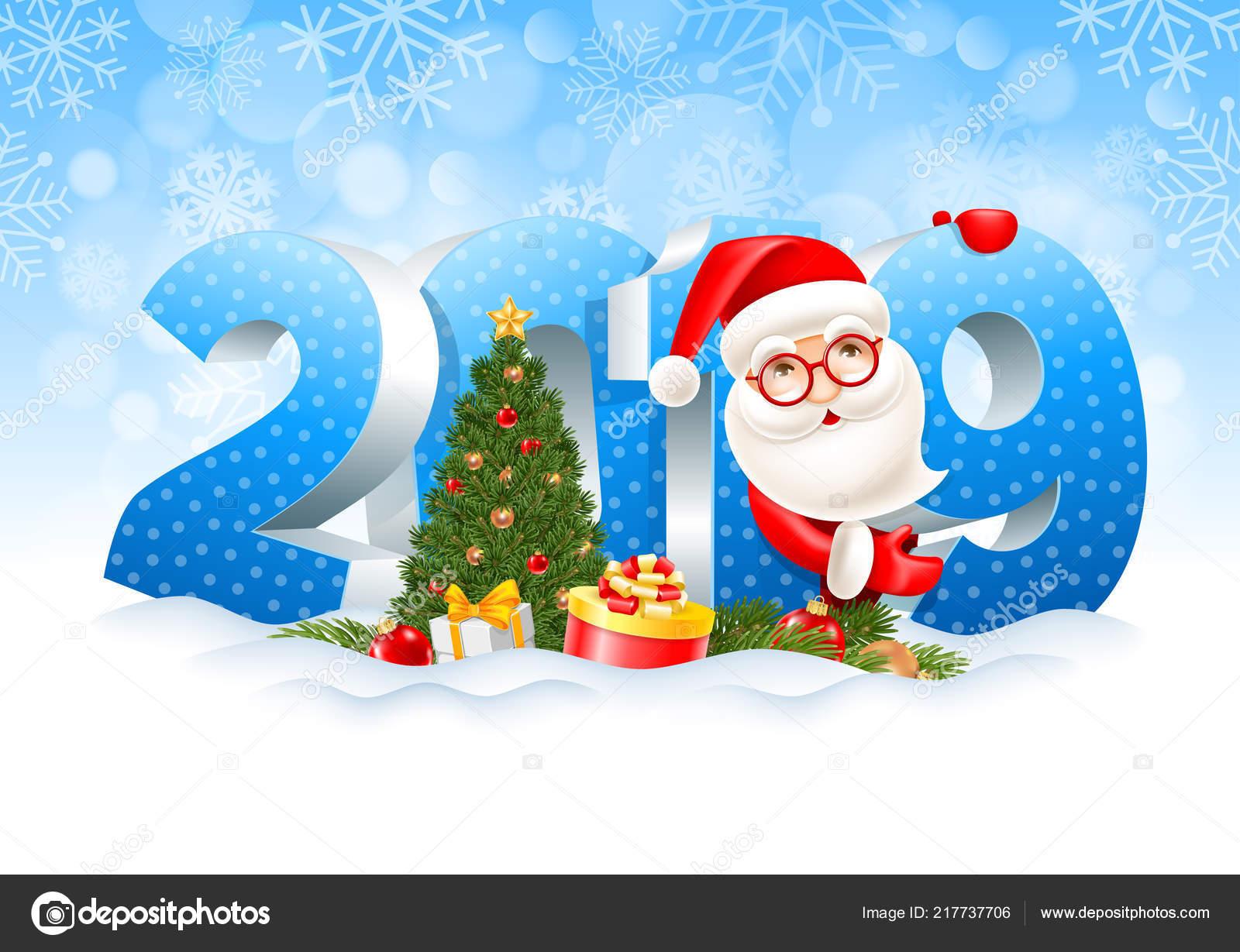 Weihnachten Geschenke 2019.Volumetrische Ziffern 2019 Weihnachtsmann Geschenke Filialen