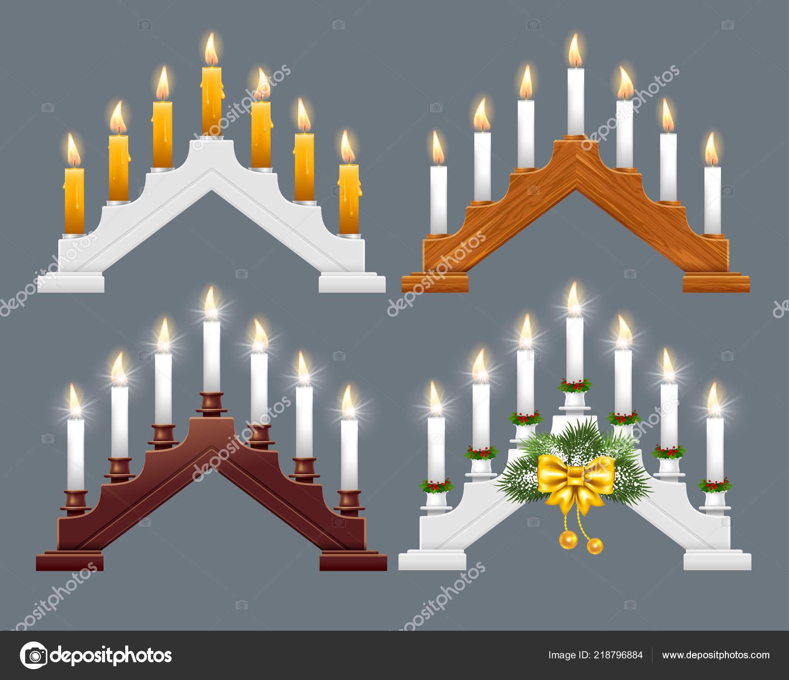 Zestaw Drewniane Gwiazdkowa Świeca Światła Most³w Lub Łuki Xmas