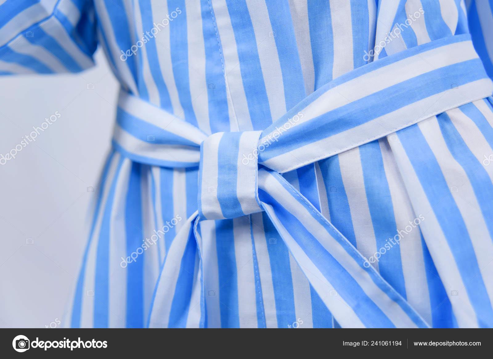 Cotton Bathrobe Textile Bathrobe Blue White Stripes Texture Fabric Cotton Stock Photo Image By C Kinderkz 241061194