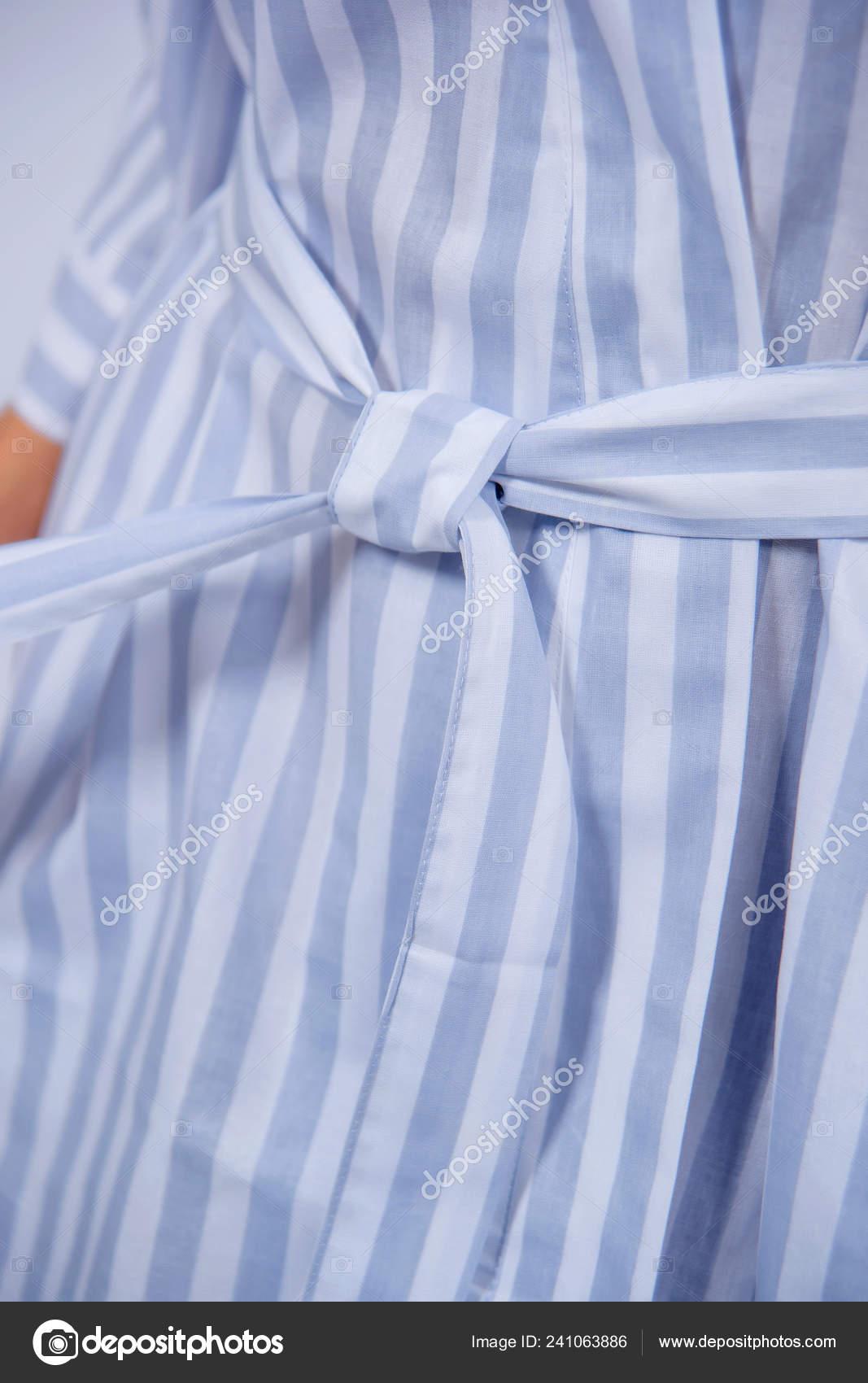 Cotton Bathrobe Textile Bathrobe Light Lilac Color White Stripes Texture Stock Photo C Kinderkz 241063886