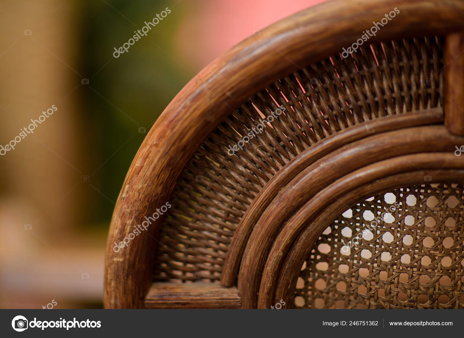 Muebles Mimbre Terraza Verano Del Restaurante Decor Textura
