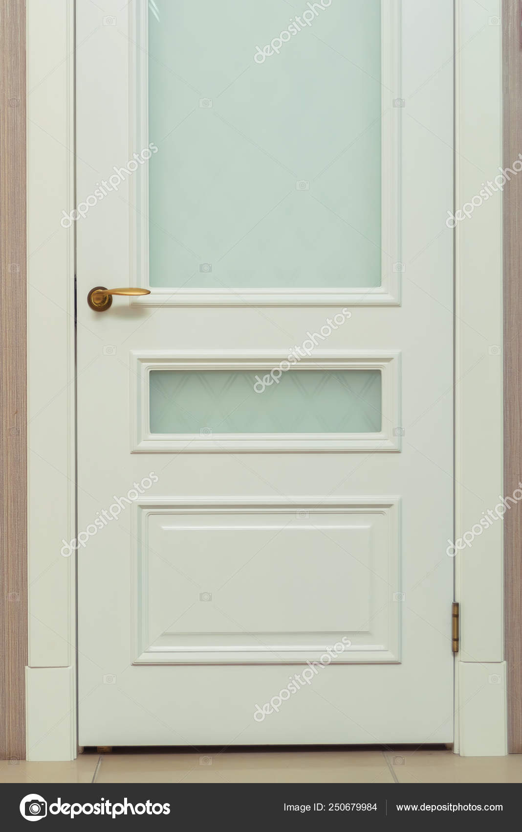 Glass Doors Designs Interior White Door Classic Design Interior Door Modern Door Platband Glass Stock Photo C Kinderkz 250679984