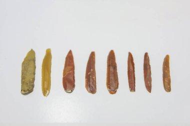 Tools of ancient people. Primitive primitive tools of stone. Tools of primitive people.
