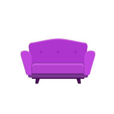 Vector illustration of small sofa