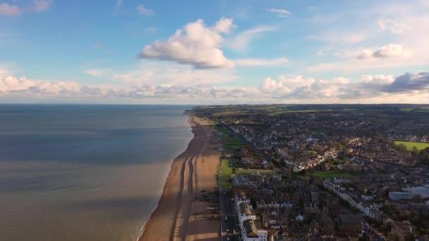 Aerial view of Deal pier, Deal, Kent, UK