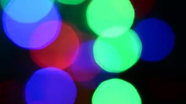 světelné efekty barevné bokeh rozostřeného barevná světla svítí, velmi velké blikají.