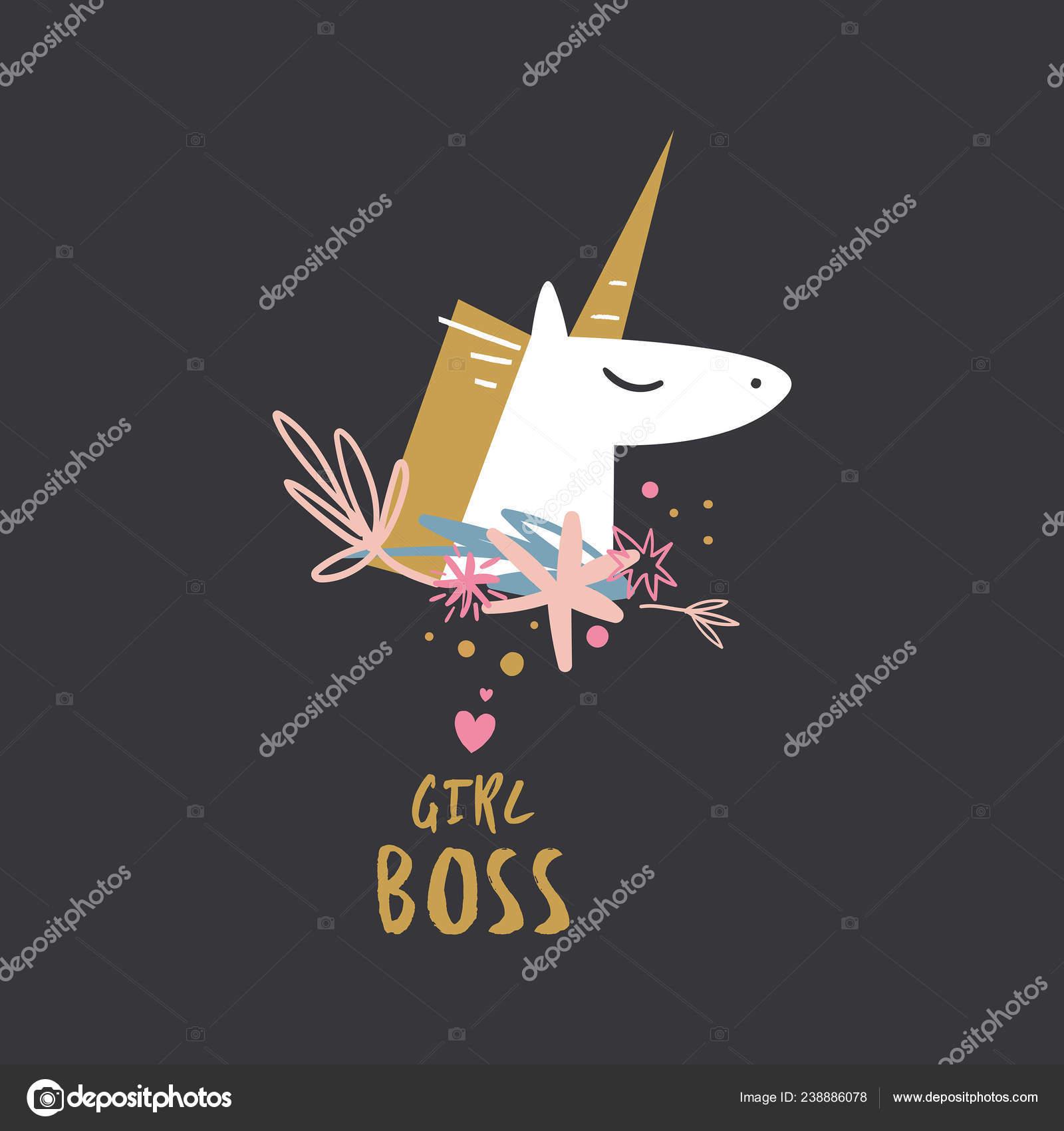 Unicornio Dibujado Mano Lindo Colores Pastel Bueno Para Niña