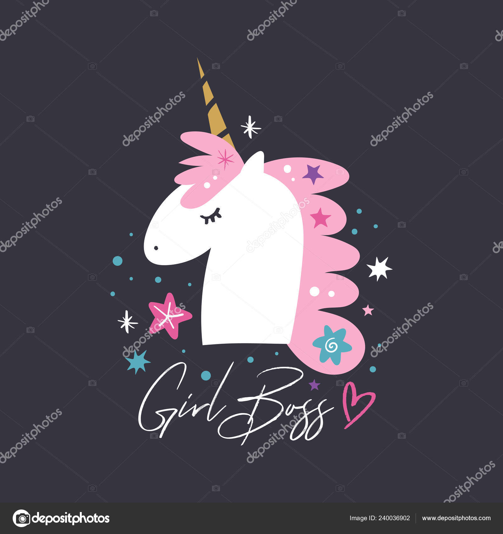 Clipart Black Boss Baby Unicorn Head Cute Art Baby