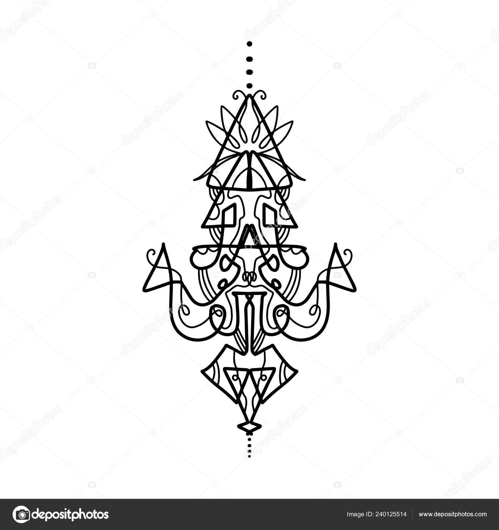 Tatuaje Del Flash Del Patrón Elementos Diseño Recargado