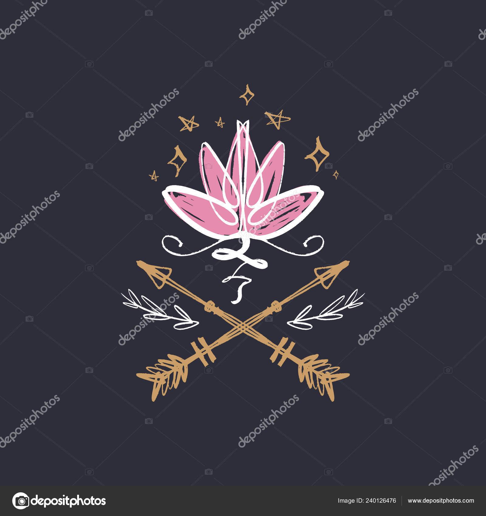 Lotus Flower Line Art Harmony Universe Symbol Sacred Geometry