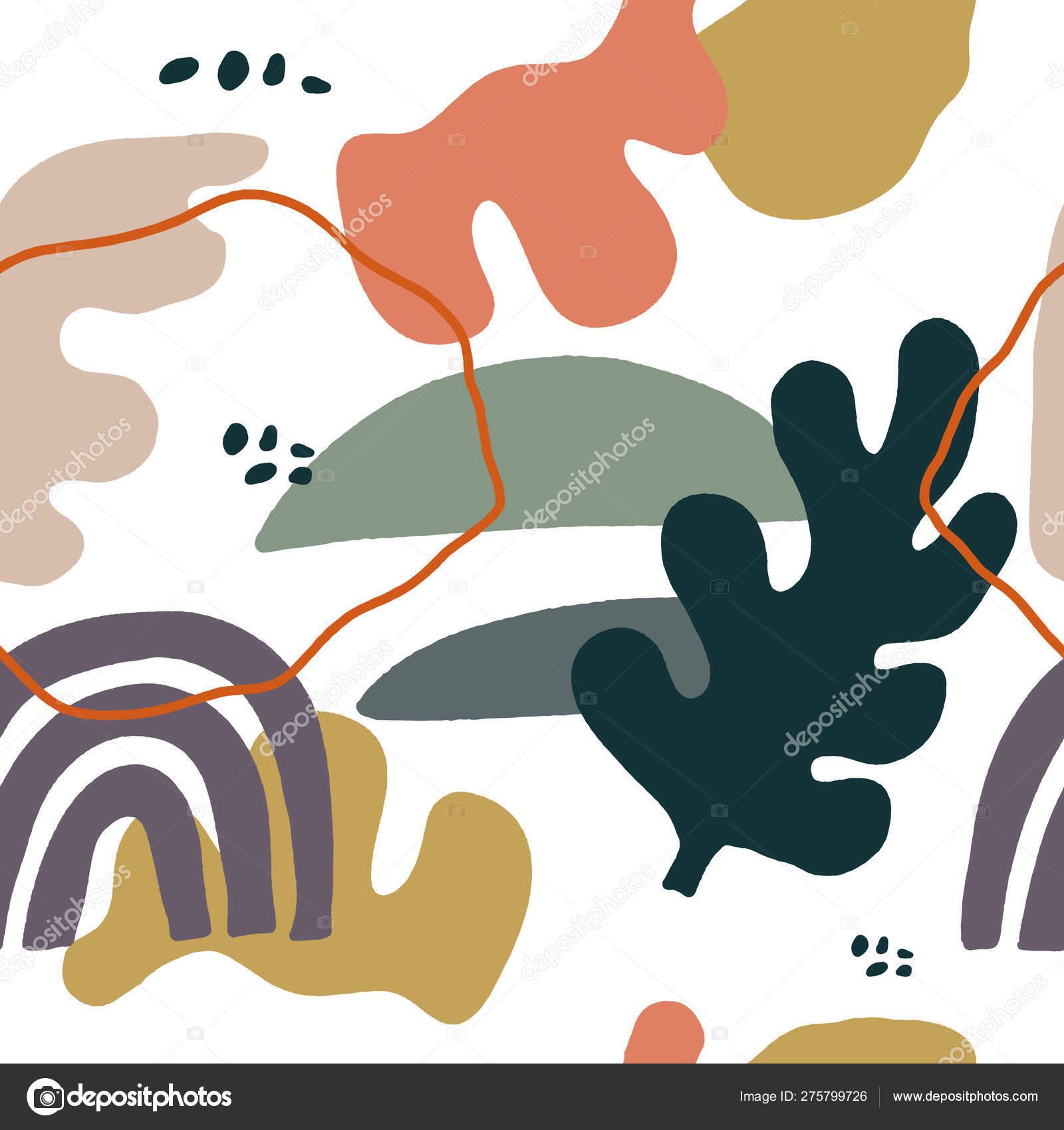 Abstract Shapes Mid Century Modern Wall Art Scandinavian