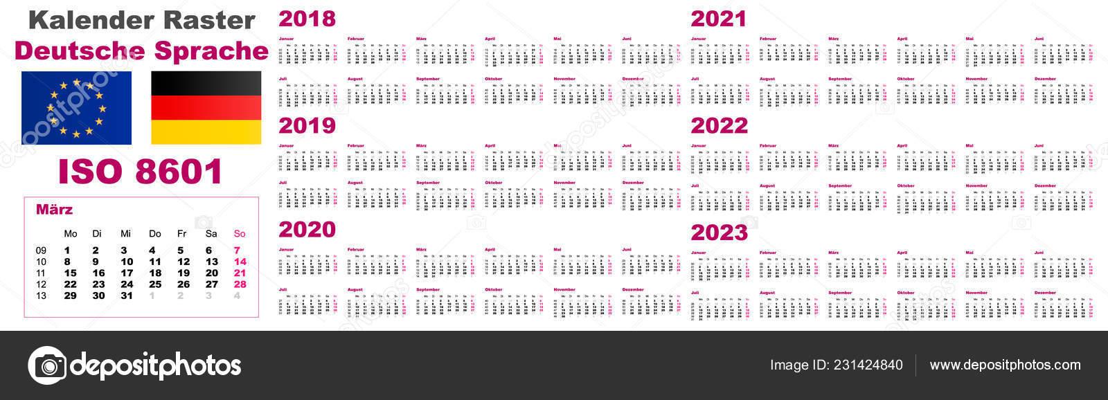 Calendrier 2021 Avec Semaine.Definir La Grille Murale Calendrier Deutsche Neerlandais