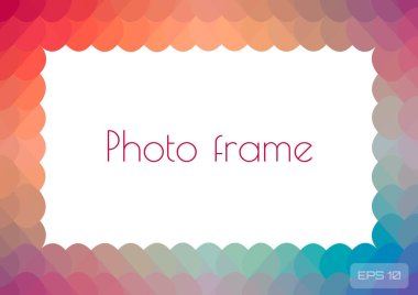 Multicolored rainbow bright photo frame for your photos