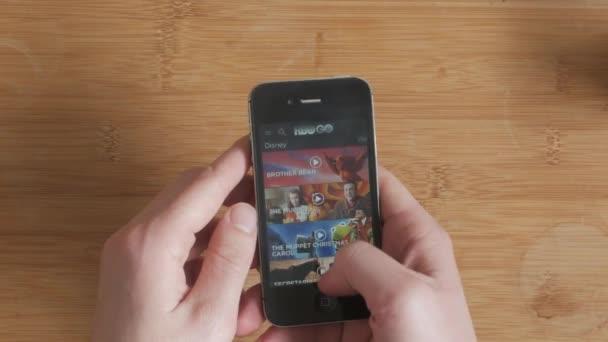 Böngészi a film Hbo megy Streaming alkalmazás egy touchscreen smartphone eszközről