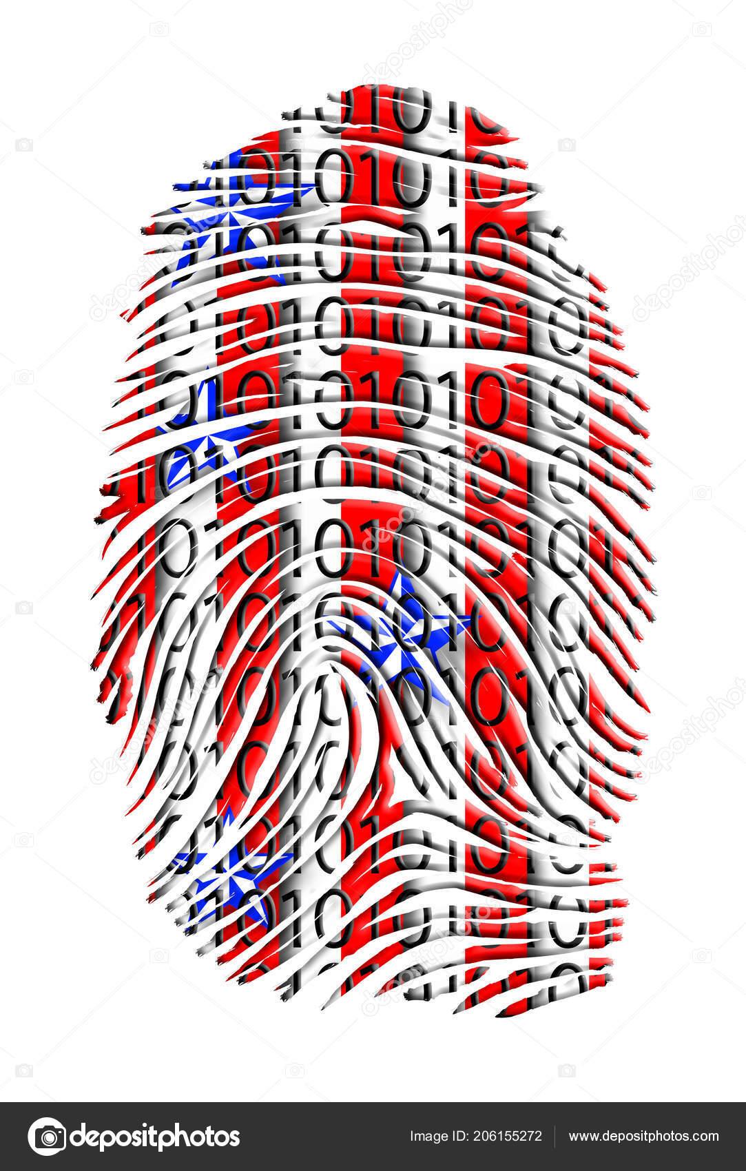 Usa Fingerprint Binary Code — Stock Photo © rolffimages