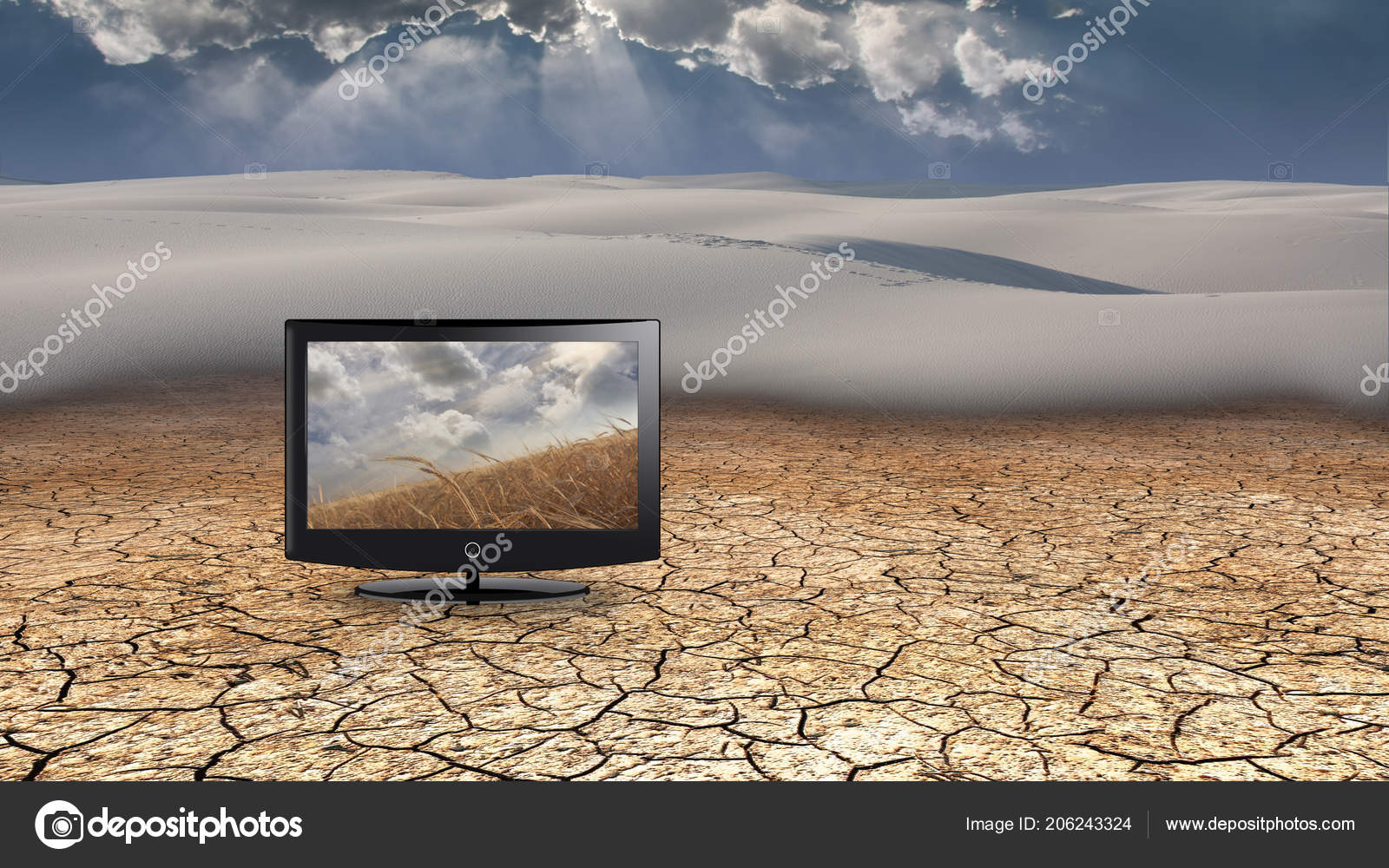Flat Panel Fields Grain Desert — Stock Photo © rolffimages ...