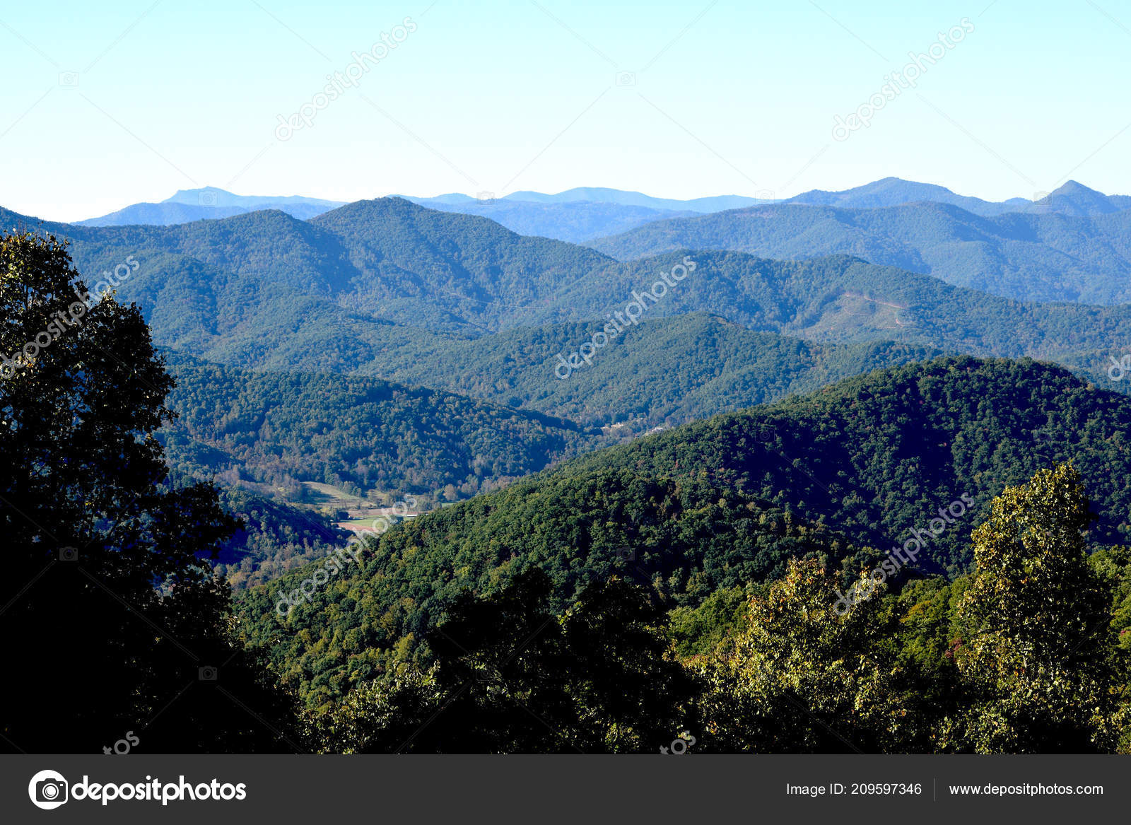 Blue Ridge Mountains Asheville North Carolina Pisgah
