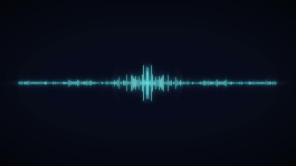 Effetto onda sonora dello spettro audio. Equalizzatore digitale.