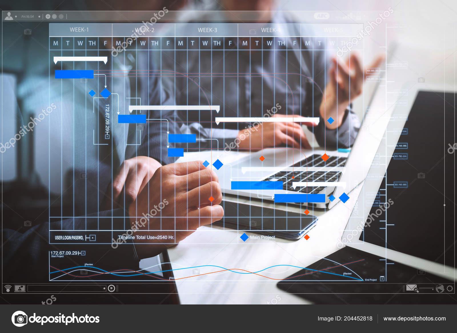 Project Manager Working Update Tasks Milestones Progress Planning