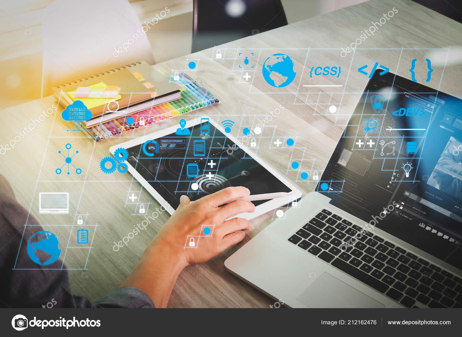 Coding Software Developer Work New Design Dashboard Computer Icons Scrum Stock Photo C Everythingposs 212162476