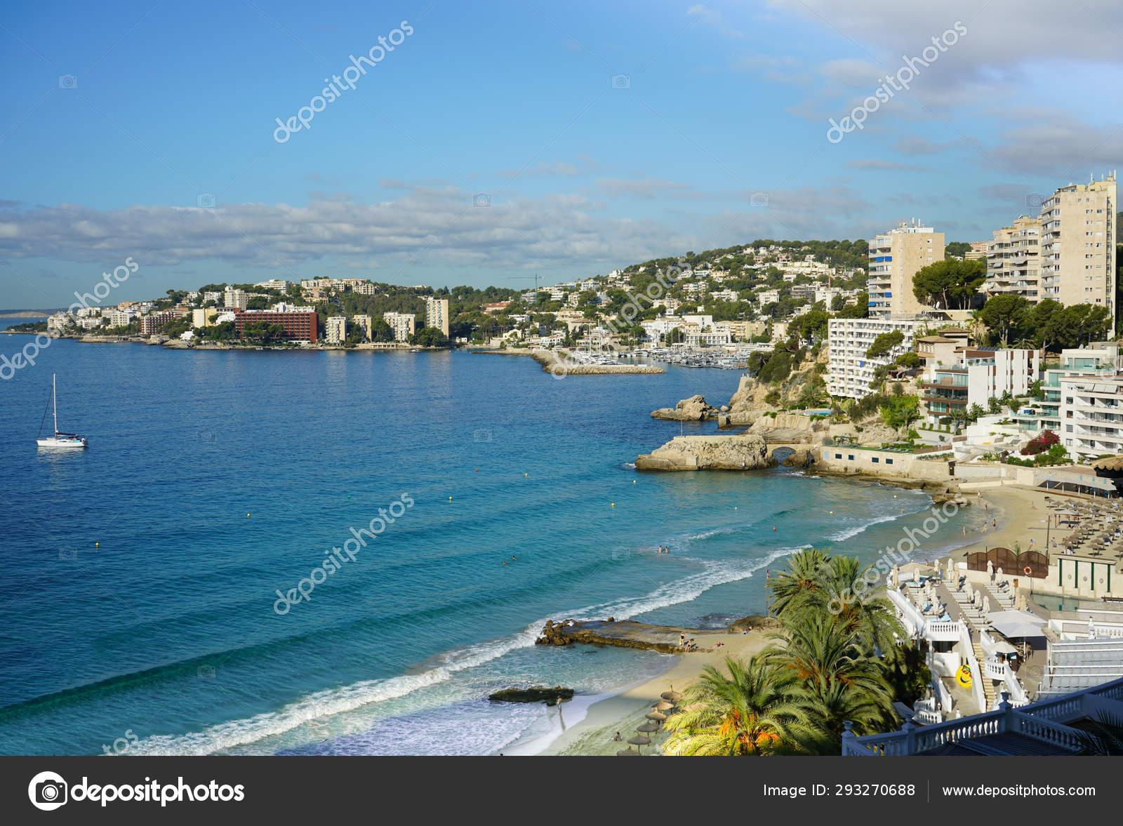 Cala Major Beach In Palma De Mallorca Spain Top View