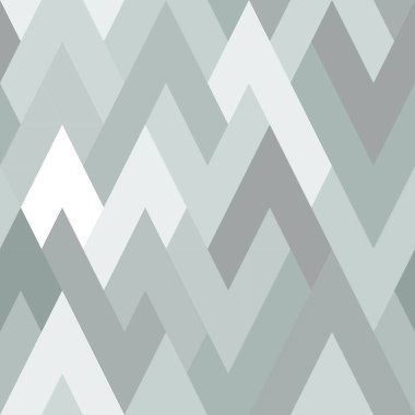 Mosaic seamless zagzag pattern. Grayscale, low contrast. Simple geometric background