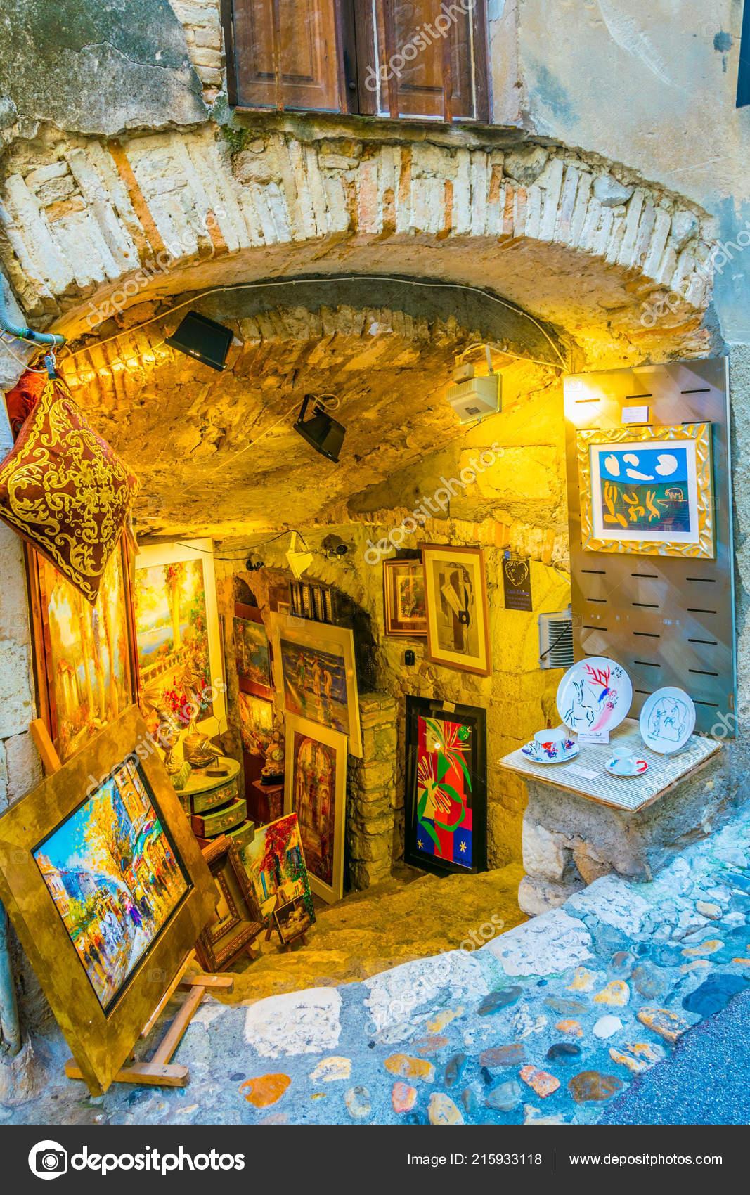 Saint Paul De Vence Art saint paul vence france june 2017 narrow street old town