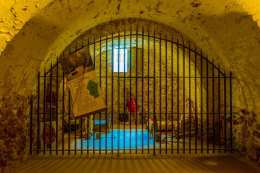 VILLEFRANCHE DE CONFLENT, FRANCE, JUNE 27, 2017: Interior of Fort Liberia at Villefranche de Conflent, Franc