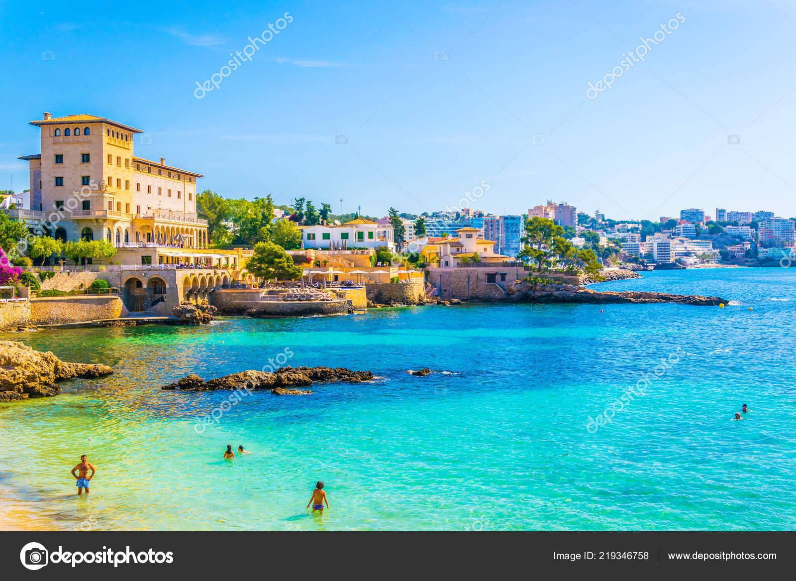 Palma Mallorca Spain May 2017 Cala Mayor Beach Palma