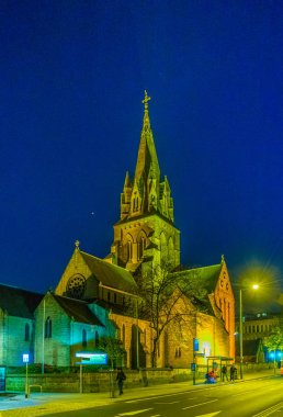 Night view of the Nottingham cathedra