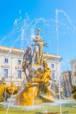 Fountain of Diana in Syracuse, Sicily, Ital