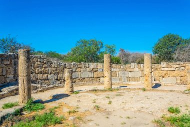Ruins of Gymnasium at ancient Salamis archaeological site near Famagusta, Cypru
