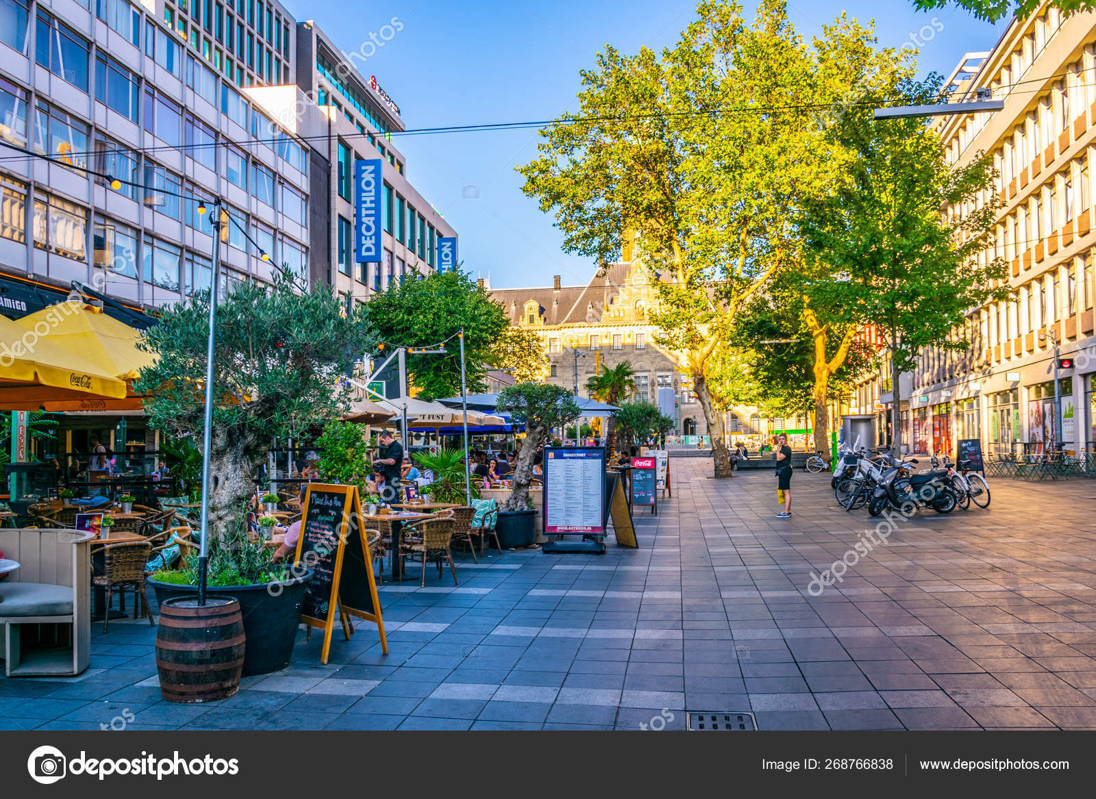 ROTTERDAM, NETHERLANDS, AUGUST 5, 2018: View of a shopping