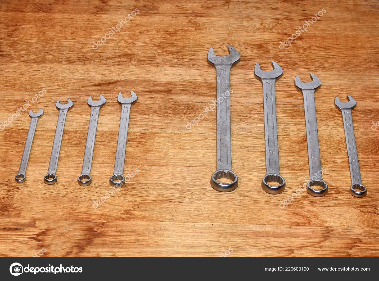 d4a88b4eb01163 Mechanics Tool Set Isolated White Background Mechanics Tool Kit Set — Stock  Photo