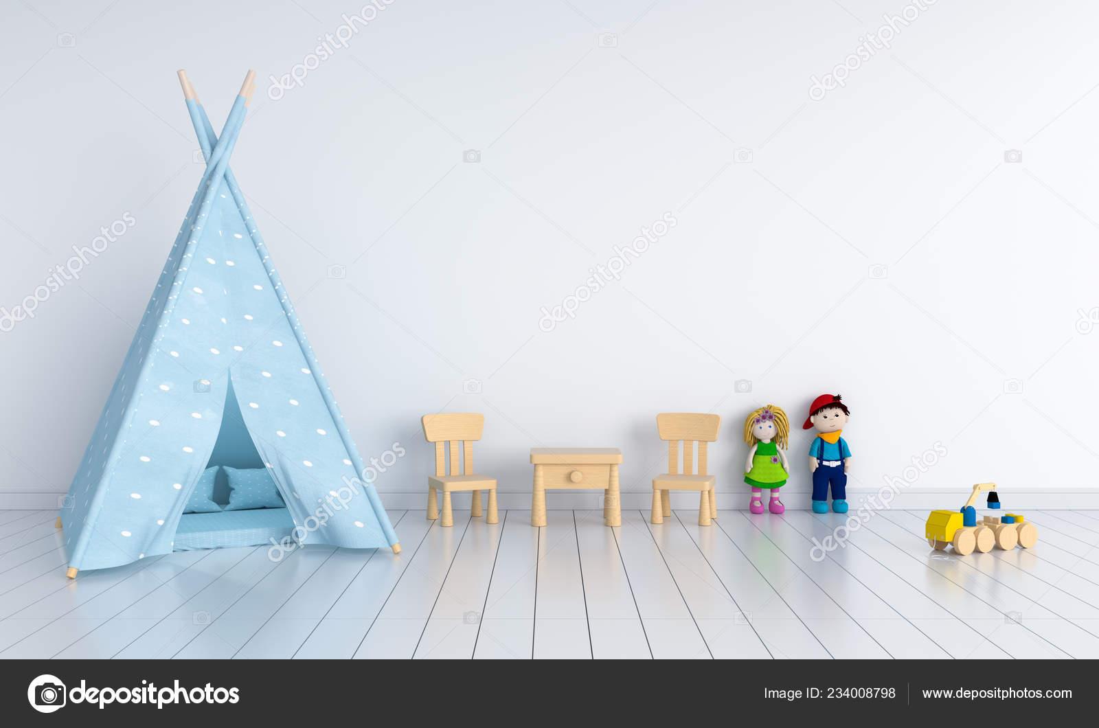 Norteamericanos Interior Cuarto Niño Para Maqueta Render — Foto de ...