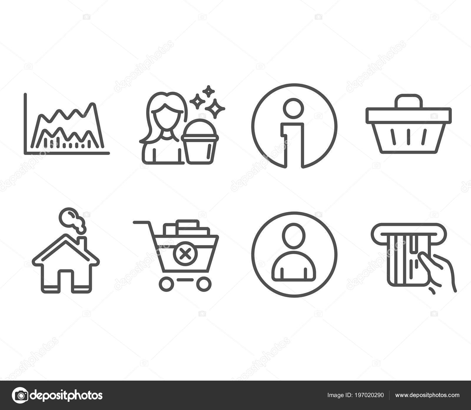 Set Avatar Cleaning Trade Chart Icons Remove Purchase