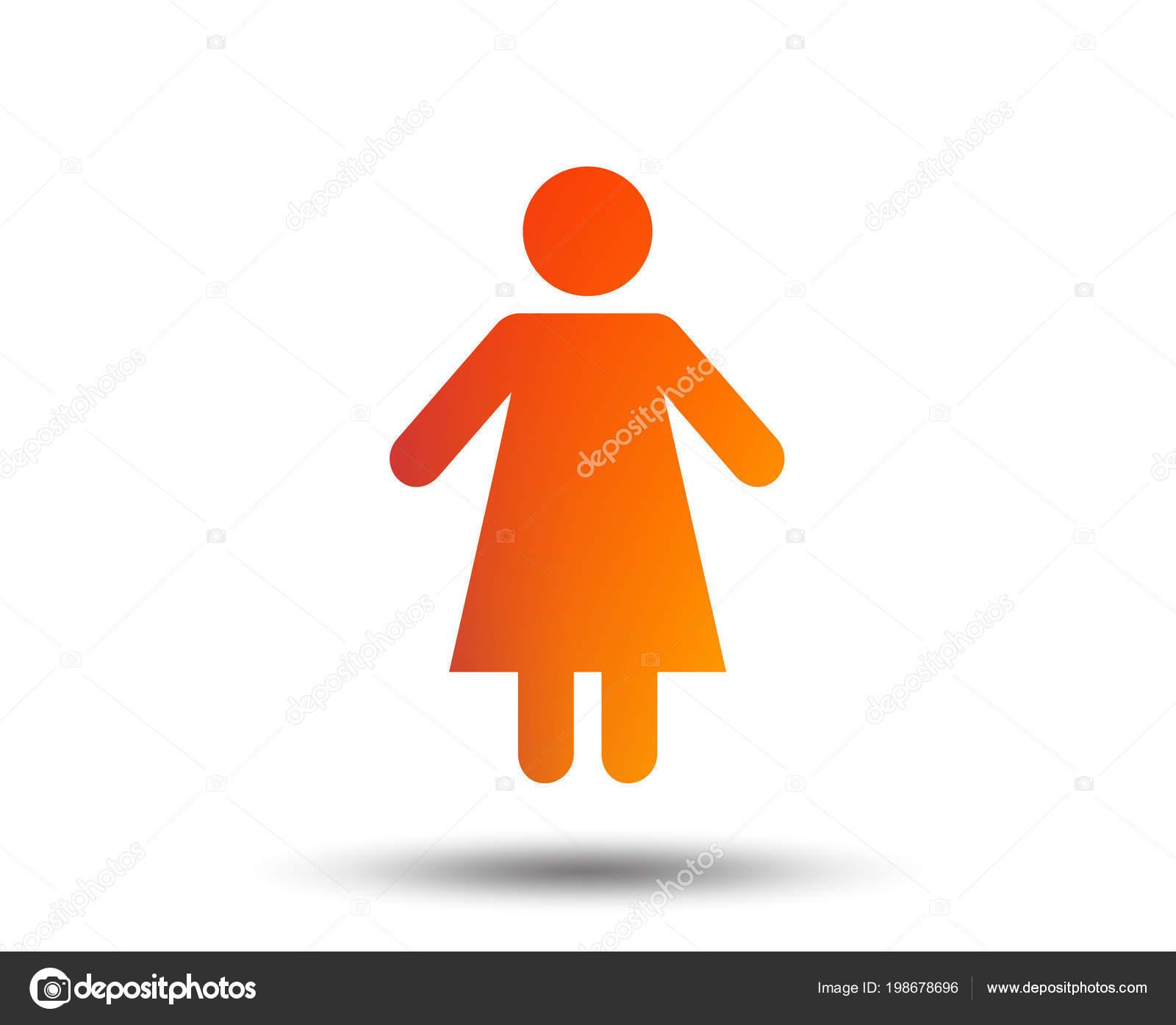 Icône Signe Femelle Symbole Homme Femme Toilette Des Femmes élément